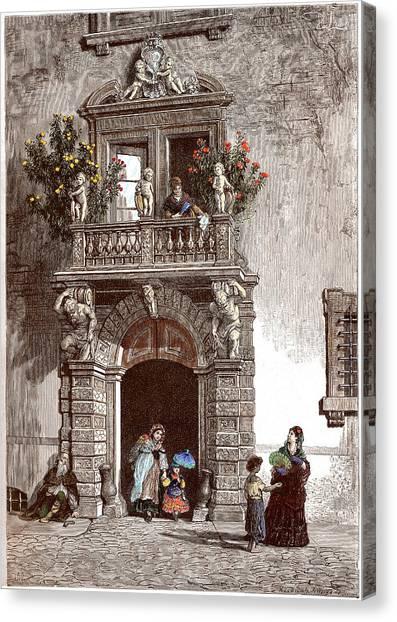 Palazzo Sardagna Trento Canvas Print