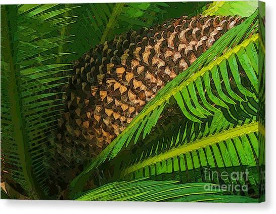 Palm Heart Canvas Print