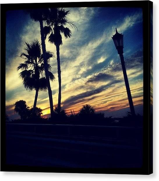 Sunsets Canvas Print - #palm Trees #sunset #sky #beautiful by Mandy Shupp