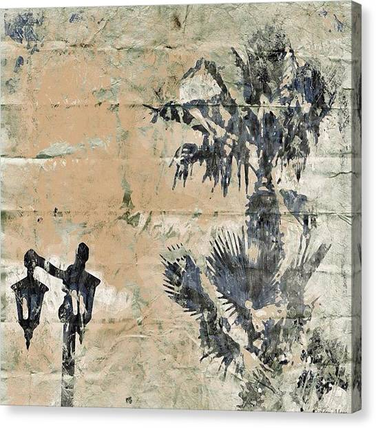 Big Sky Canvas Print - Palms & Streetlights - All Grunged Up by Photography By Boopero