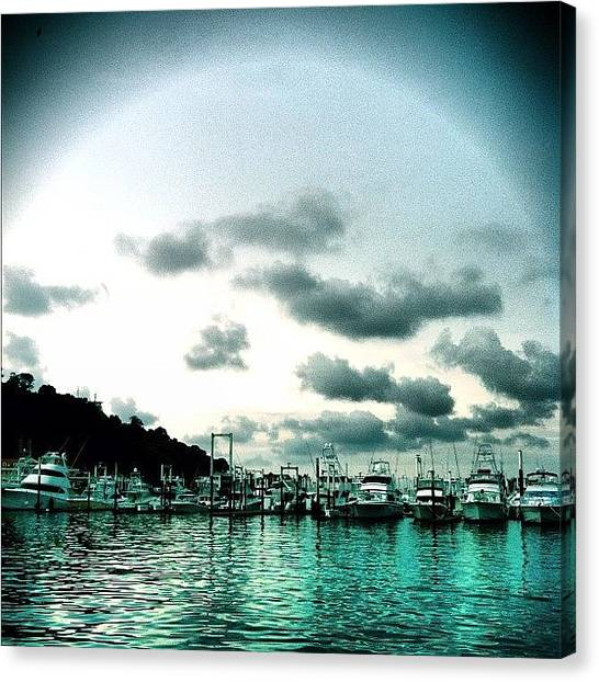 Yachts Canvas Print - #panama #pty #yacht #yachtclub #view by Moises  Shemaria