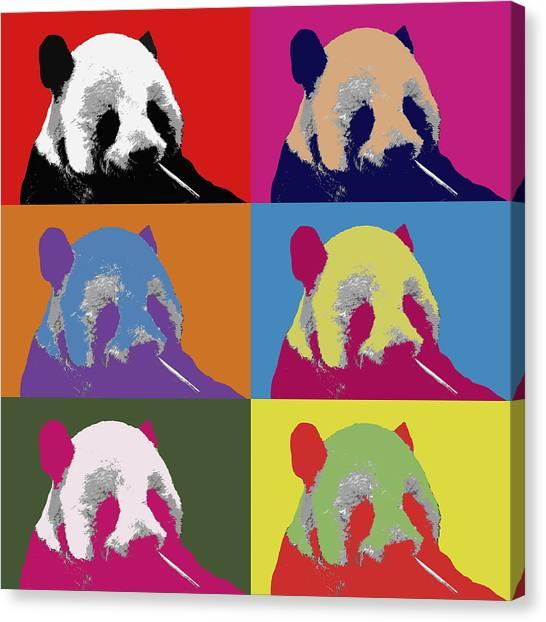 Panda Pop Art 2 Canvas Print