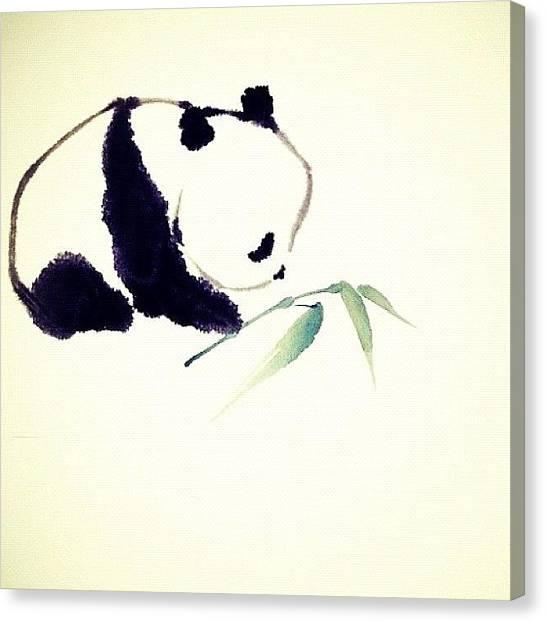 Panda Canvas Print - #pandabears #panda #animals #protect by E  Marrero