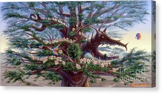 Panoramic Lorn Tree From Arboregal Canvas Print