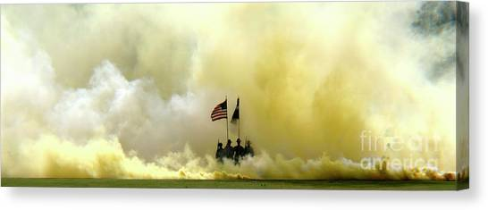 Panoramic Us Army Graduation Canvas Print