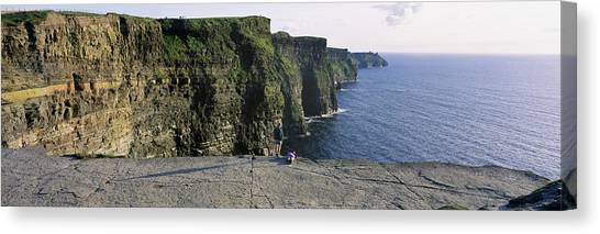 The Cliffs Of Moher Canvas Print - Panoramic View Of Cliffs, Cliffs Of by The Irish Image Collection