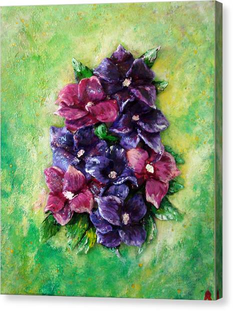 Pansy Expression Canvas Print