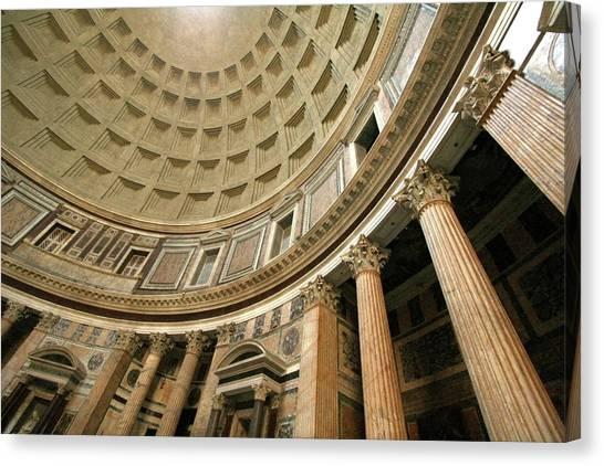 Pantheon Rotunda Columns Canvas Print
