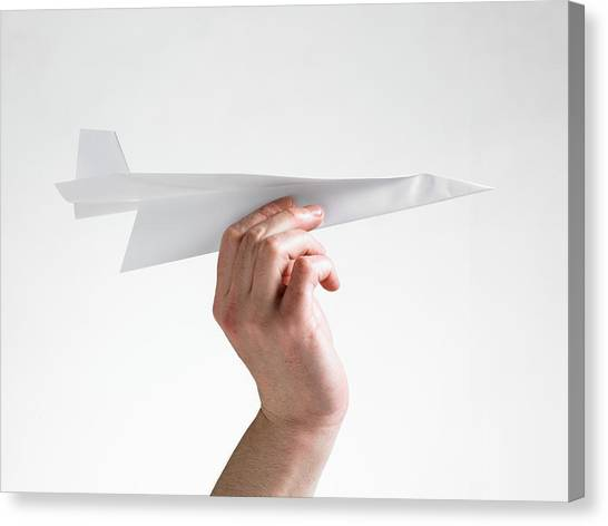 Paper Planes Canvas Print - Paper Aeroplane by Tony Mcconnell