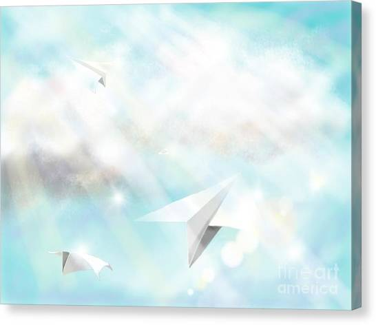 Paper Planes Canvas Print - Paper Planes by Kristin Shell