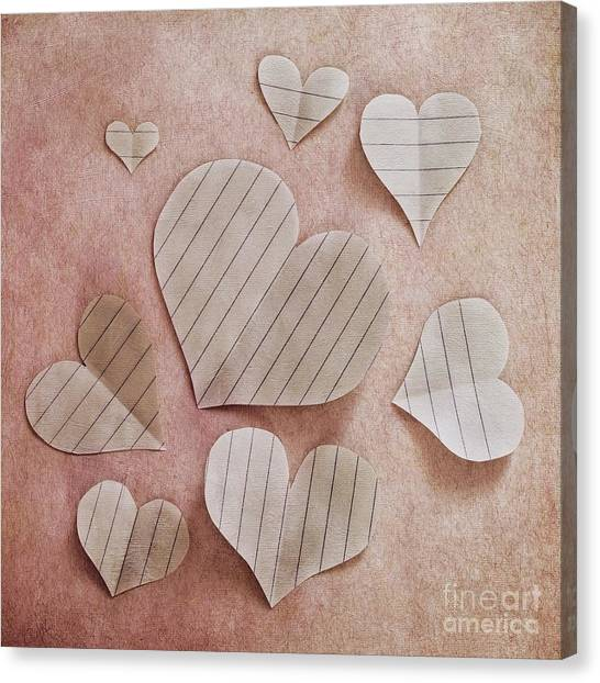 Love Canvas Print - Papier D'amour by Priska Wettstein