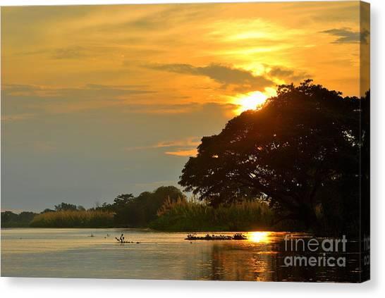 Papua New Guinea Sunset Canvas Print