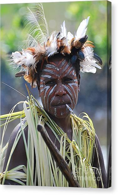 Papuan Fisherwoman Canvas Print