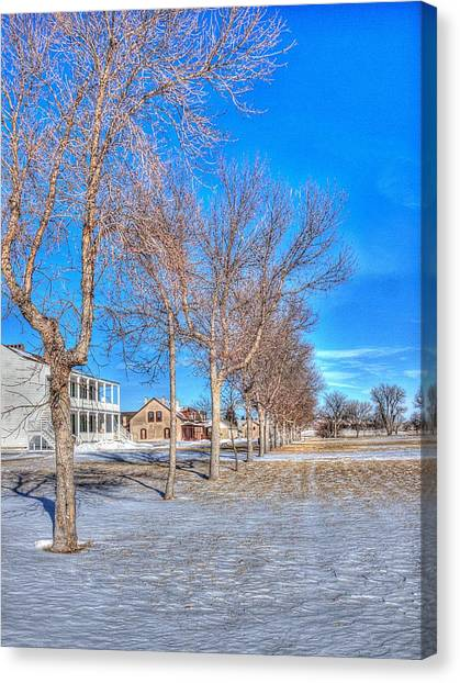 Parade Grounds - Fort Laramie  Canvas Print by HW Kateley