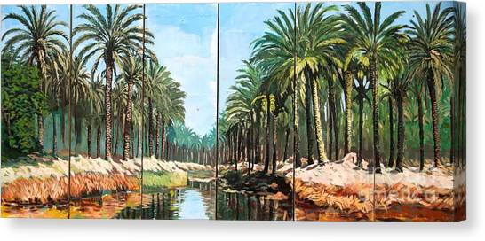 Paradise Canal - Basrah Iraq Canvas Print by Unknown