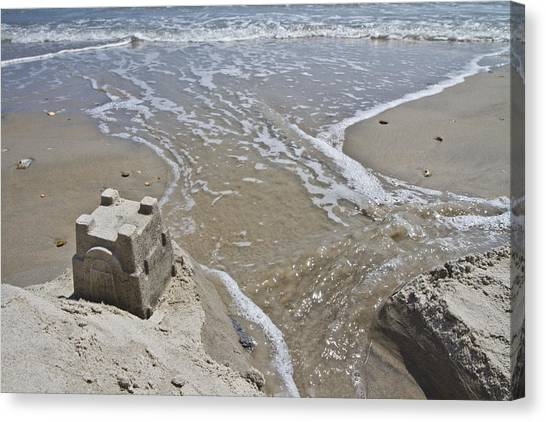 Sand Castles Canvas Print - Paradise Lost And Found by Betsy Knapp