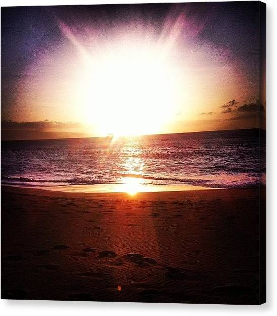 Ocean Sunrises Canvas Print - Paradise by //m Graff