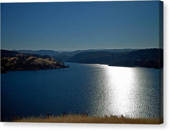 Pardee Lake Canvas Print by Joe Fernandez