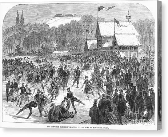 Sleds Canvas Print - Paris: Bois De Boulogne by Granger