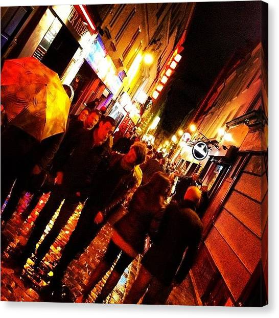 Street Scenes Canvas Print - Paris By Night by Stu Brierley
