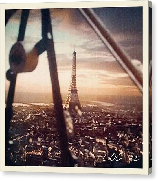 Imaginative Canvas Print - #paris #eifeltower #all_shots #tv by Lotte Corvinius