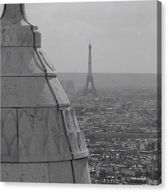 Paris Skyline Canvas Print - #paris #eiffel #tower #skyline by Robin Boer