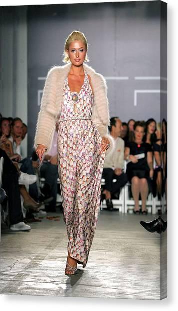 Playstation Canvas Print - Paris Hilton At Arrivals by Everett