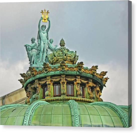 Paris Opera House Roof Canvas Print