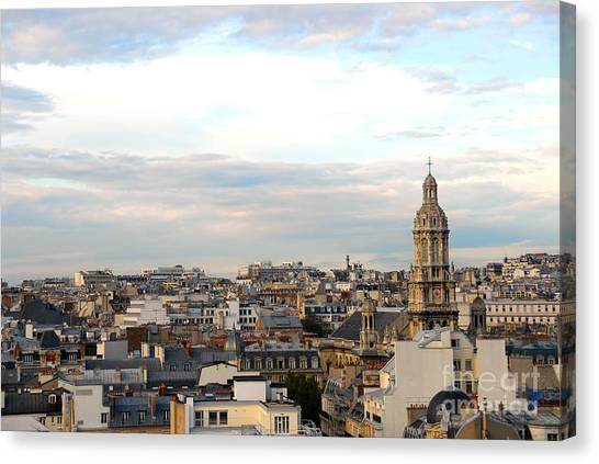 Chimney Tops Canvas Print - Paris Rooftops by Elena Elisseeva