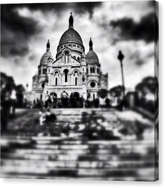 Paris Canvas Print - #paris #sky #skyporn #bnw #stairs by Ritchie Garrod