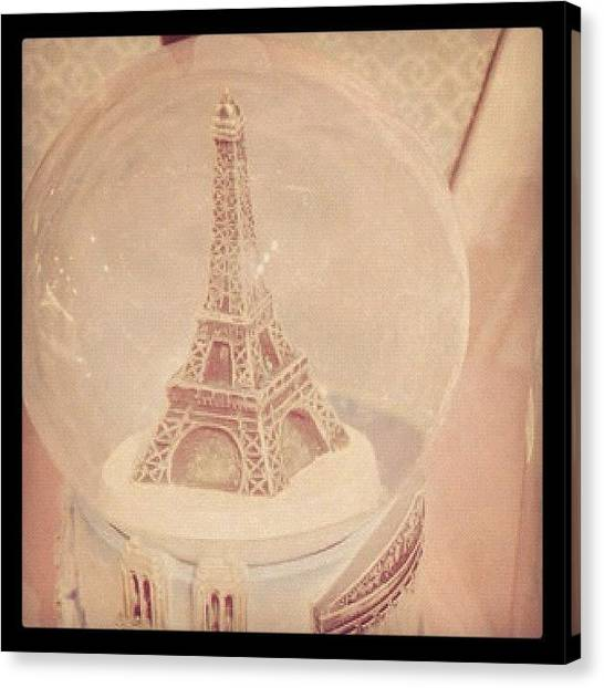 Athens Canvas Print - Paris Snow Globe 💗 #snowglobe #paris by Myrtali Petrocheilou
