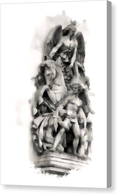 Paris Statuary Canvas Print