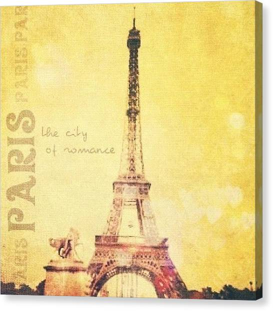 Vacations Canvas Print - Paris... The City Of Romance..💛✨ by Traci Beeson