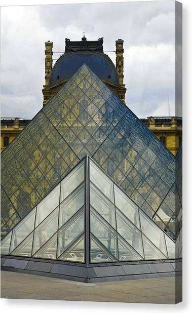 Le Louvre Canvas Print - Parisian Pyramids by Luc Novovitch