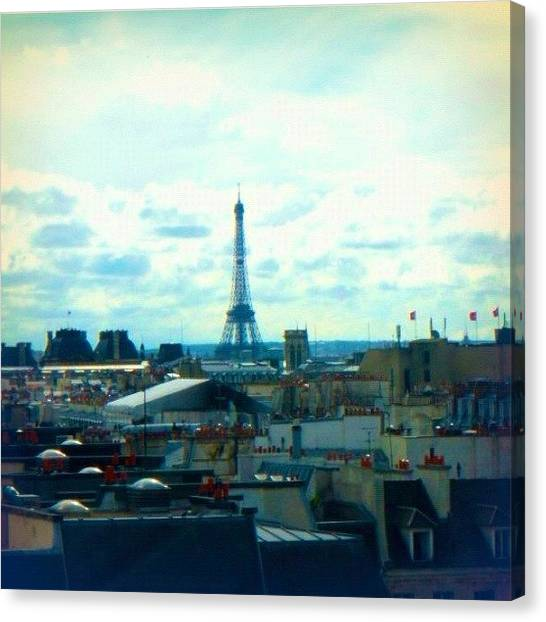 Paris Skyline Canvas Print - Parisian Rooftops by Vanessa Valedon