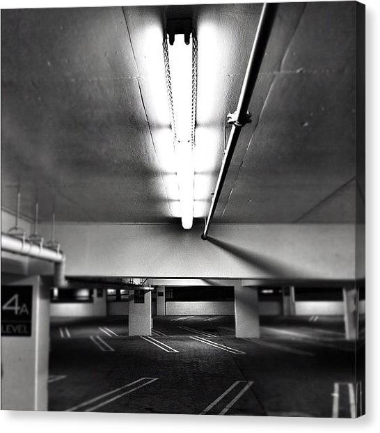 Hips Canvas Print - Parking Garage. Love The Lighting by Loghan Call