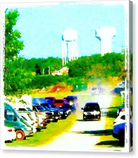 Impressionism Canvas Print - Parking Lot #android #andrography by Marianne Dow