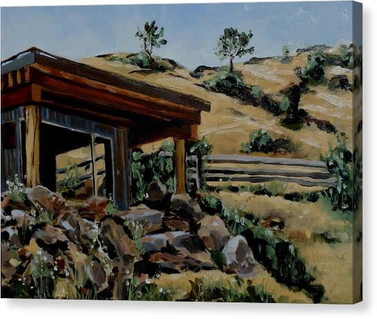 Park's Sauna Livingston  Mt Canvas Print
