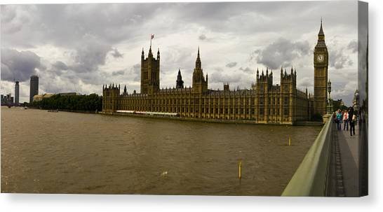 Parliment Canvas Print by Keith Sutton