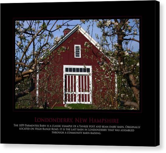 Parmenter Barn Canvas Print by Jim McDonald Photography