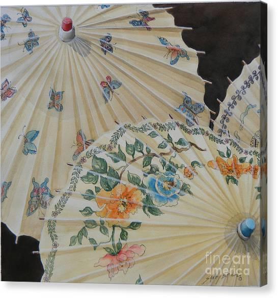 Parosol Parade Sold  Canvas Print