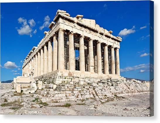 Parthenon - Greece Canvas Print by Constantinos Iliopoulos