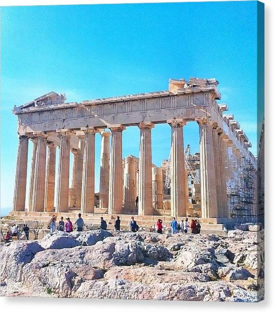 The Parthenon Canvas Print - Parthenon: Awesome Since 5th B.c by Reigun  Decena