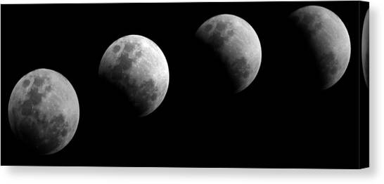 Partial Lunar Eclipse Canvas Print