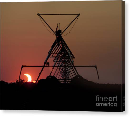 Partial Solar Eclipse Canvas Print