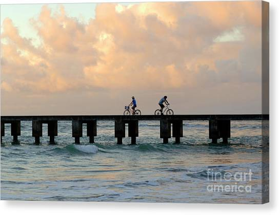 Surfboard Fence Canvas Print - Parting Company by Bob Christopher