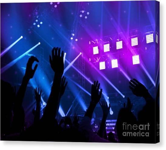 Party Background Canvas Print by Anna Om