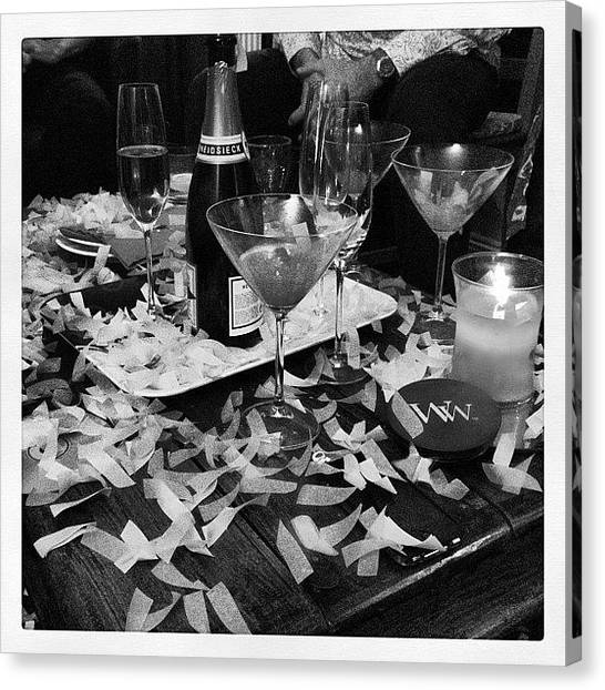White Wine Canvas Print - Party Time by Rillaith