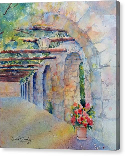Passageway Of History At The Alamo Canvas Print