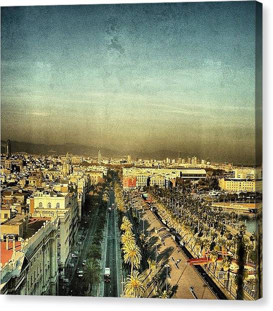 Barcelona Canvas Print - Passeig De Colom - Barcelona by Joel Lopez
